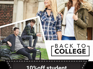 Student discount at Peacocks now!