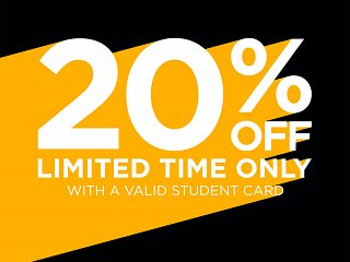 BLUE INC STUDENT DISCOUNT - 20% OFF - Limited Period!