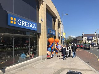 Yay! It's Greggs opening day at HSM!!