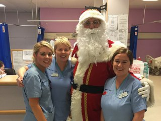 Santa visiting the kids at Craigavon Area Hospital on Monday 19th December!