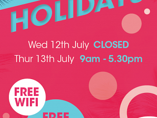 July Opening Hours