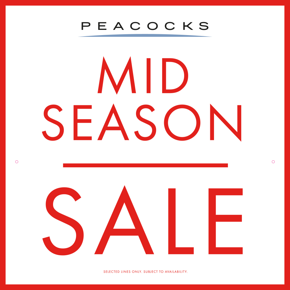 Peacocks up to 50% off