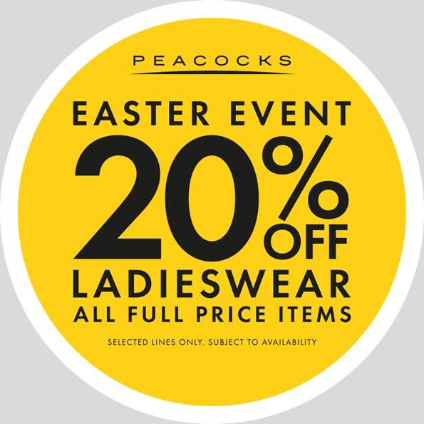Peacocks 20% OFF