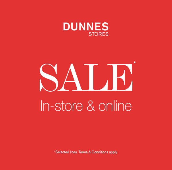 Dunnes sales now on