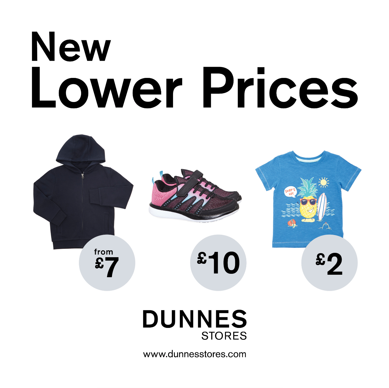 Dunnes Stores New Lower Prices across Kidswear.