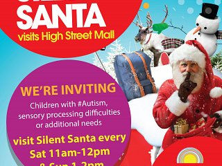 SILENT SANTA COMES TO HIGH STREET MALL