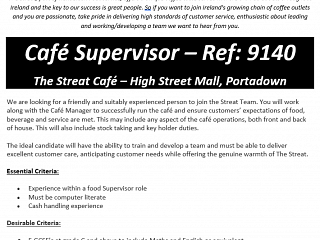 Vacancy at The Streat in High Street Mall!