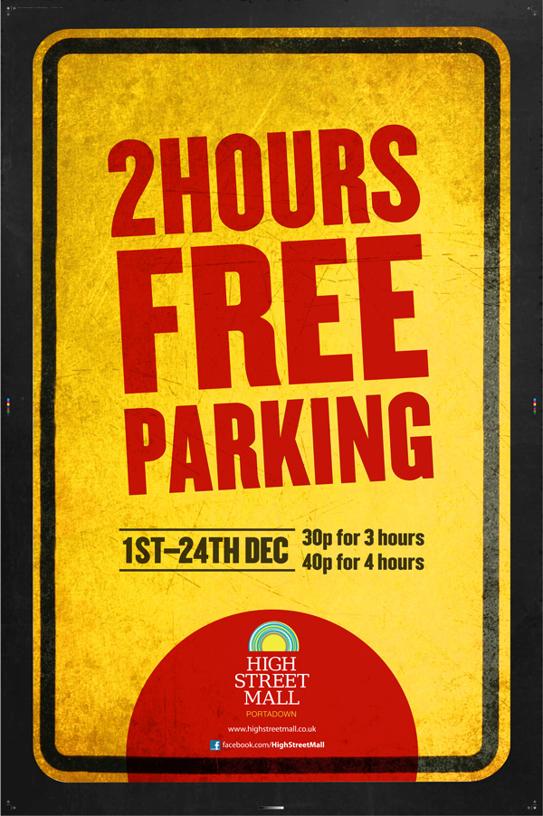 2 Hours Free parking at High Street Mall